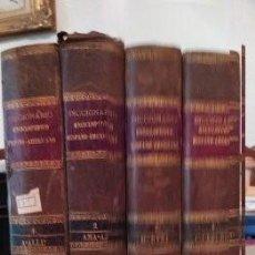 Diccionarios antiguos: DICCIONARIO ENCICLOPEDICO HISPANO-AMERICANO TOMOS1,2,3,4,AÑO 1887 MONTANER Y SIMON EDITORES. Lote 267743964