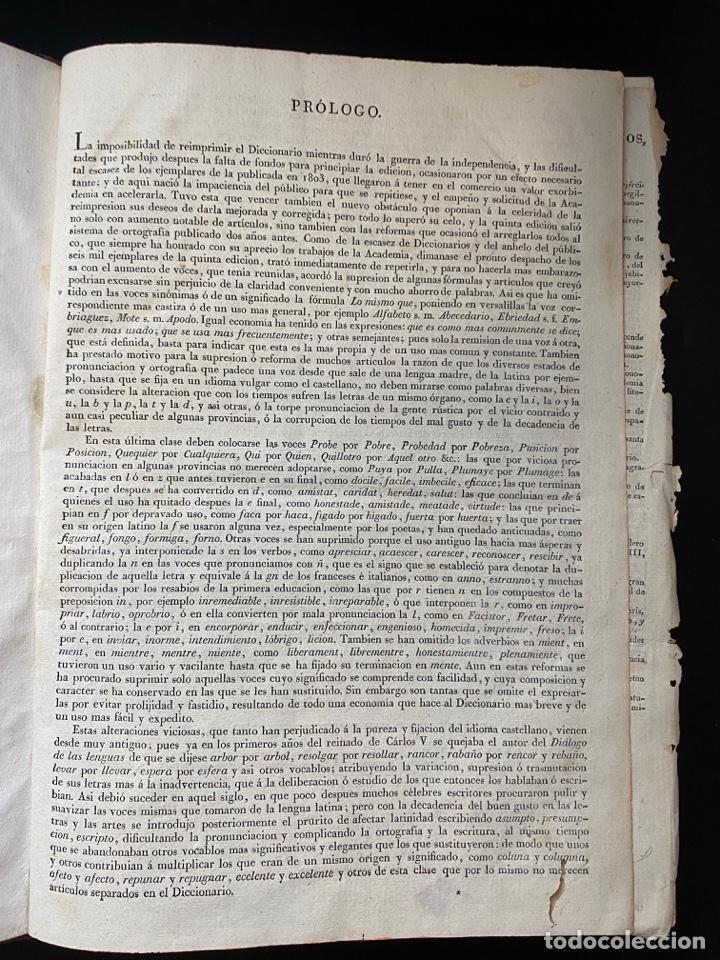 Diccionarios antiguos: DICCIONARIO DE LA LENGUA CASTELLANA. RAE. 6ª EDICION. IMPRENTA NACIONAL. MADRID, 1822. PAGS: 869 - Foto 5 - 268043664