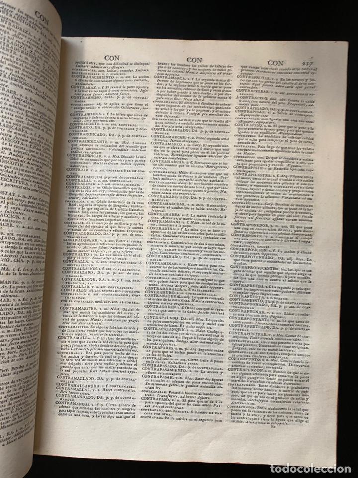 Diccionarios antiguos: DICCIONARIO DE LA LENGUA CASTELLANA. RAE. 6ª EDICION. IMPRENTA NACIONAL. MADRID, 1822. PAGS: 869 - Foto 8 - 268043664