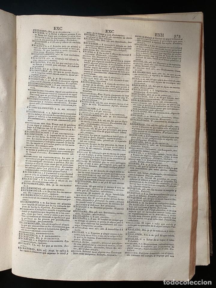 Diccionarios antiguos: DICCIONARIO DE LA LENGUA CASTELLANA. RAE. 6ª EDICION. IMPRENTA NACIONAL. MADRID, 1822. PAGS: 869 - Foto 9 - 268043664
