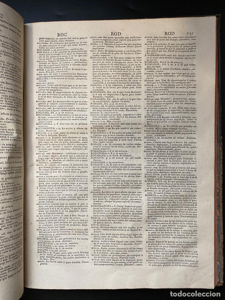 Diccionarios antiguos: DICCIONARIO DE LA LENGUA CASTELLANA. RAE. 6ª EDICION. IMPRENTA NACIONAL. MADRID, 1822. PAGS: 869 - Foto 13 - 268043664