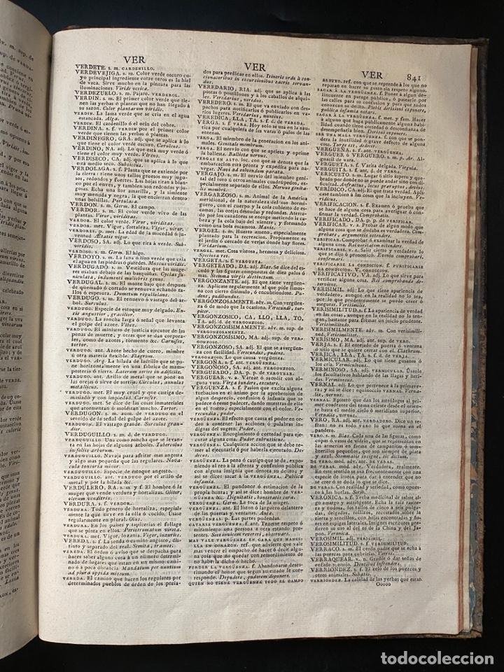 Diccionarios antiguos: DICCIONARIO DE LA LENGUA CASTELLANA. RAE. 6ª EDICION. IMPRENTA NACIONAL. MADRID, 1822. PAGS: 869 - Foto 15 - 268043664