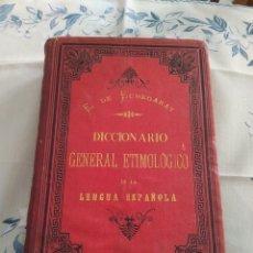 Diccionarios antiguos: DICCIONARIO GENERAL ETIMOLÓGICO DE LA LENGUAL ESPAÑOLA. TOMO 2, C-D. Lote 269275673