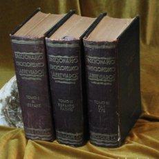 Diccionarios antiguos: DICCIONARIO ENCICLOPÉDICO ILUSTRADO, 3 TOMOS, 3ª EDICIÓN, 1935, ESPASA CALPE. Lote 270913693