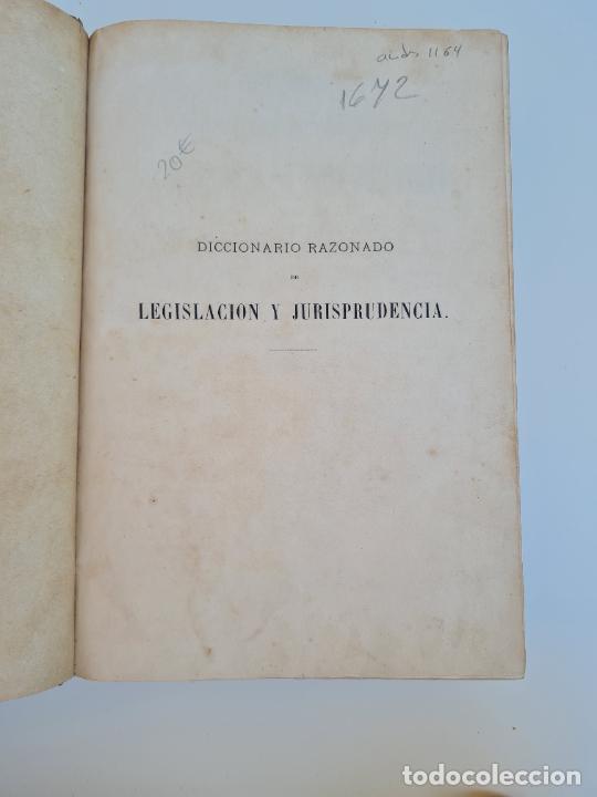 Diccionarios antiguos: DICCIONARIO RAZONADO DE LEGISLACION Y JURISPRUDENCIA. JOAQUIN ESCRICHE. TOMO 4. MADRID, 1876. - Foto 2 - 272371043