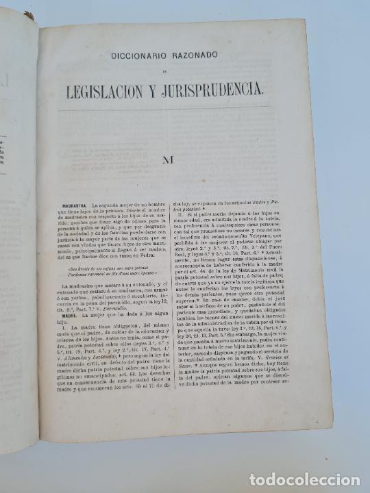 Diccionarios antiguos: DICCIONARIO RAZONADO DE LEGISLACION Y JURISPRUDENCIA. JOAQUIN ESCRICHE. TOMO 4. MADRID, 1876. - Foto 4 - 272371043