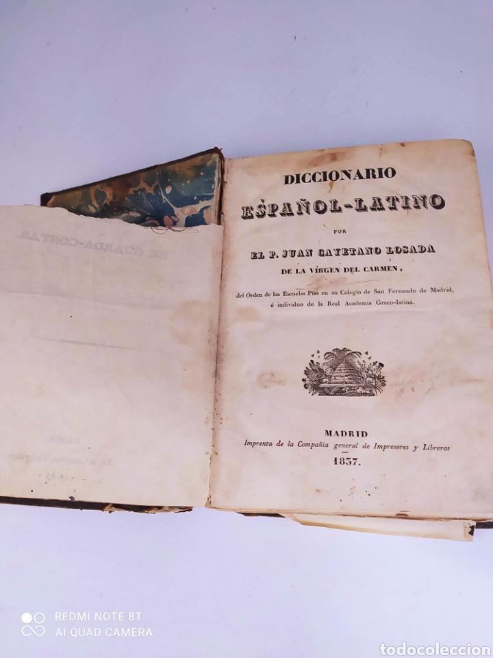 DICCIONARIO ESPAÑOL LATINO POR EL PADRE JUAN CAYETANO LOSADA DE LA VIRGEN DEL CARMEN MADRID 1837 (Libros Antiguos, Raros y Curiosos - Diccionarios)