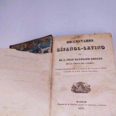 Diccionarios antiguos: DICCIONARIO ESPAÑOL LATINO POR EL PADRE JUAN CAYETANO LOSADA DE LA VIRGEN DEL CARMEN MADRID 1837. Lote 272549298