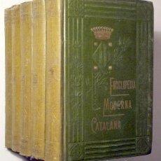 Diccionarios antiguos: FITER, JOSEPH - ENCICLOPÈDIA MODERNA CATALANA (5 VOL. - COMPLET) - BARCELONA 1913. Lote 272937628