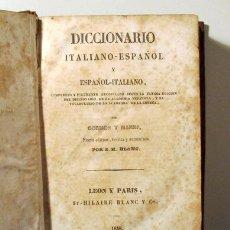 Diccionarios antiguos: CORMON - MANNI - DICCIONARIO ITALIANO-ESPAÑOL Y ESPAÑOL-ITALIANO - LEON-PARIS 1848. Lote 273904973