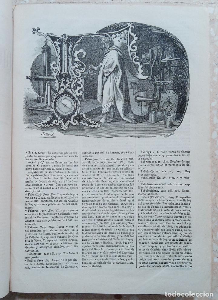 Diccionarios antiguos: APENDICE AL DICCIONARIO UNIVERSAL LENGUA CASTELLANA, CIENCIAS Y ARTES. TOMO XIV. 1881 - Foto 2 - 274596558