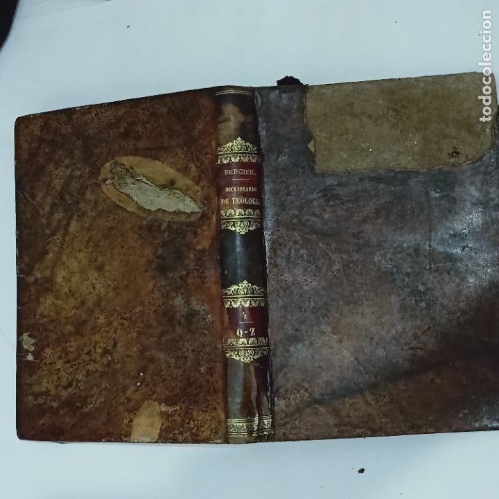 Diccionarios antiguos: BERGIER, DICCIONARIO DE TEOLOGIA tomo 4 Q-Z 1846 - Foto 4 - 274795118