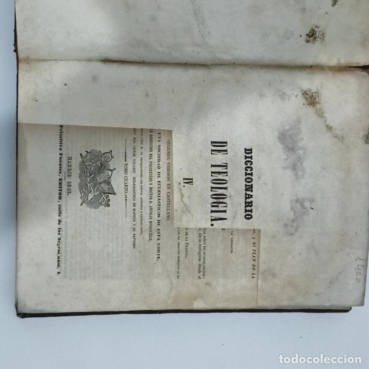Diccionarios antiguos: BERGIER, DICCIONARIO DE TEOLOGIA tomo 4 Q-Z 1846 - Foto 5 - 274795118