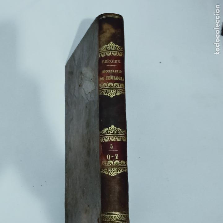 BERGIER, DICCIONARIO DE TEOLOGIA TOMO 4 Q-Z 1846 (Libros Antiguos, Raros y Curiosos - Diccionarios)