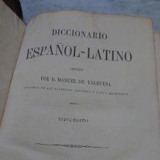 Libri antichi: PRPM 75 MANUEL VALBUENA, DICCIONARIO ESPAÑOL-LATINO. NUEVA EDICIÓN 1878. Lote 275334123