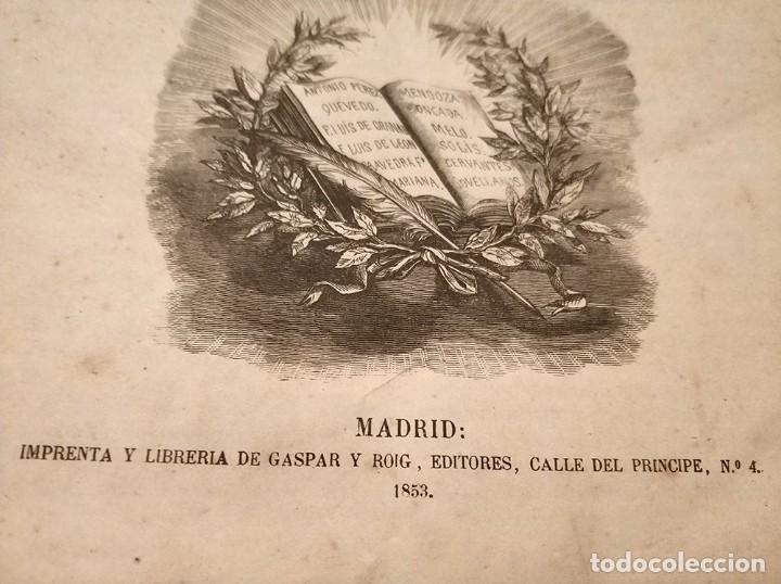 Diccionarios antiguos: antiguo diccionario enciclopédico de la lengua española gaspar y roig año 1853 - 2 tomos - Foto 2 - 276264618