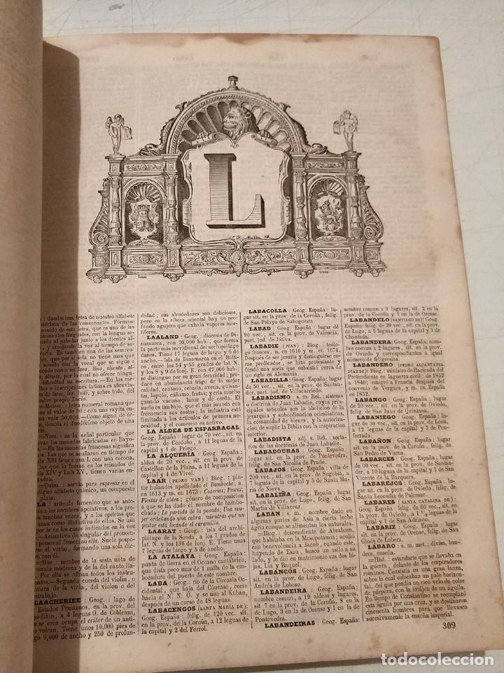 Diccionarios antiguos: antiguo diccionario enciclopédico de la lengua española gaspar y roig año 1853 - 2 tomos - Foto 5 - 276264618