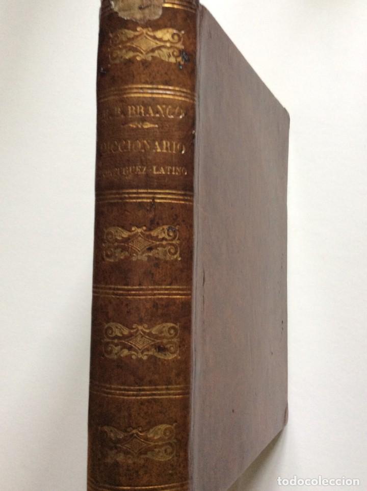 NOVO DICCIONARIO PORTUGUEZ - LATINO. COMPOSTO POR MANUEL BERNARDES BRANCO, 1879. MUY ESCASO (Libros Antiguos, Raros y Curiosos - Diccionarios)