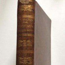 Diccionarios antiguos: NOVO DICCIONARIO PORTUGUEZ - LATINO. COMPOSTO POR MANUEL BERNARDES BRANCO, 1879. MUY ESCASO. Lote 276635488
