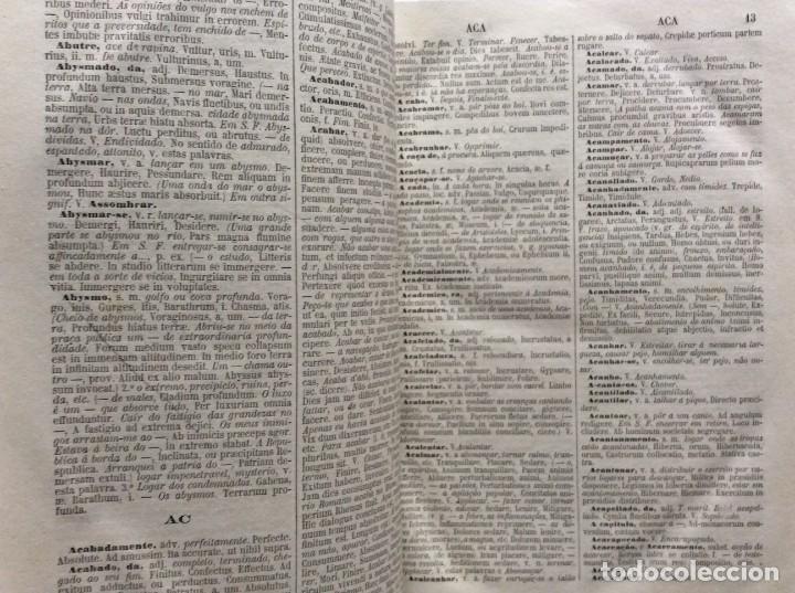 Diccionarios antiguos: Novo Diccionario Portuguez - Latino. Composto por Manuel Bernardes Branco, 1879. Muy escaso - Foto 5 - 276635488