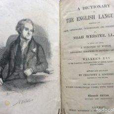 Diccionarios antiguos: NOAH WEBSTER - A DICTIONARY OF THE ENGLISH LANGUAGE EXHIBITING THE ORIGIN...1869. MUY ESCASO. Lote 276642228