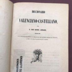 Diccionarios antiguos: DICCIONARIO VALENCIANO-CASTELLANO. JOSE ESCRIG. 1851. Lote 276691488