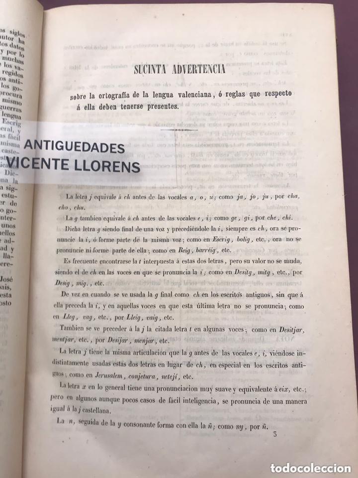 Diccionarios antiguos: Diccionario Valenciano-Castellano. Jose Escrig. 1851 - Foto 2 - 276691488