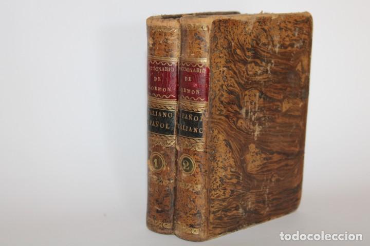 1805 / DICCIONARIO DE CORMON,ITALIANO-ESPAÑOL,ESPAÑOL-ITALIANO 2 TOMOS (Libros Antiguos, Raros y Curiosos - Diccionarios)