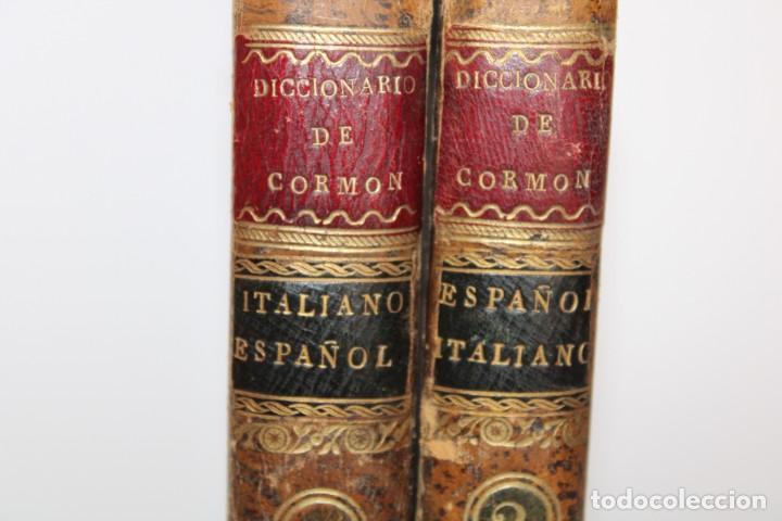 Diccionarios antiguos: 1805 / DICCIONARIO DE CORMON,ITALIANO-ESPAÑOL,ESPAÑOL-ITALIANO 2 TOMOS - Foto 5 - 277175578