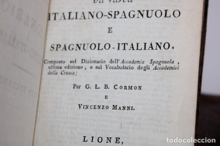 Diccionarios antiguos: 1805 / DICCIONARIO DE CORMON,ITALIANO-ESPAÑOL,ESPAÑOL-ITALIANO 2 TOMOS - Foto 6 - 277175578