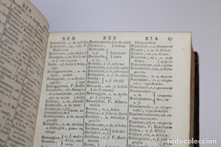 Diccionarios antiguos: 1805 / DICCIONARIO DE CORMON,ITALIANO-ESPAÑOL,ESPAÑOL-ITALIANO 2 TOMOS - Foto 9 - 277175578
