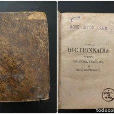 Diccionarios antiguos: NOUVEAU DICTIONNAIRE DE PORCHE. ESPAGNOL-FRANCAIS. PAR A BERBRUGGER. 7ª ED. PARIS, 1842. Lote 279468183