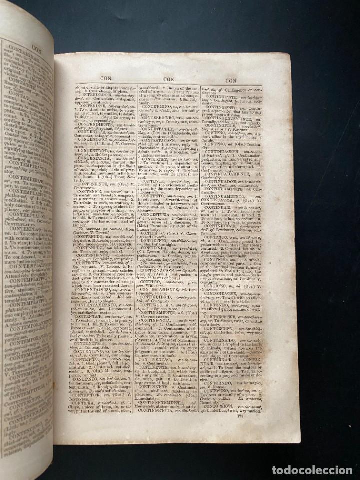 Diccionarios antiguos: PRONOUNCING AND DICTIONARY OF THE SPANISH AND ENGLISH. SEOANES NEUMAN Y BARRETY. NEW YORK, 1860 - Foto 4 - 281801113