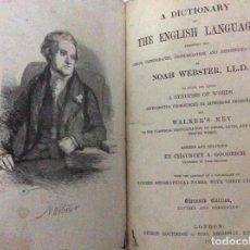 Diccionarios antiguos: NOAH WEBSTER - A DICTIONARY OF THE ENGLISH LANGUAGE EXHIBITING THE ORIGIN...1869. MUY ESCASO. Lote 286218763
