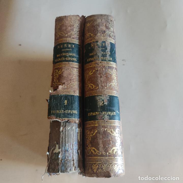 DICCIONARIO FRANCES-ESPAÑOL. NUÑEZ DE TABOADA. 2 TOMOS. 1859. CASA DE REY Y BELHATTE. 920-1156 PAGS. (Libros Antiguos, Raros y Curiosos - Diccionarios)