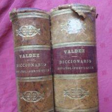 Livros antigos: DICCIONARIO ESPAÑOL-PORTUGUÉS VALDEZ. 1864 VOL 1 Y 2. Lote 287721983