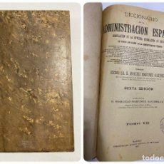 Diccionarios antiguos: DICCIONARIO DE LA ADMINISTRACION ESPAÑOLA. TOMO VII. MARCELO M. ALCUBILLA. MADRID, 1918. Lote 287858813