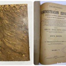 Diccionarios antiguos: DICCIONARIO DE LA ADMINISTRACION ESPAÑOLA. TOMO V. MARCELO M. ALCUBILLA. MADRID, 1916. Lote 287859318