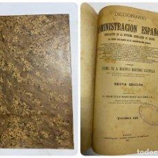 Diccionarios antiguos: DICCIONARIO DE LA ADMINISTRACION ESPAÑOLA. TOMO III. MARCELO M. ALCUBILLA. MADRID, 1915. Lote 287860298