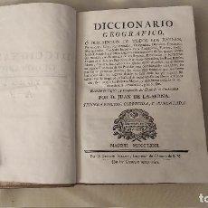 Diccionarios antiguos: DICCIONARIO GEOGRAFICO CON LA DESCRIPCION REINOS Y CIUDADES IMPERIALES TOMO 1ºJUAN DE LA SERNA 1772. Lote 288119633