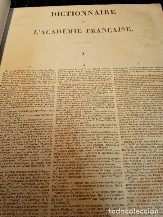 Diccionarios antiguos: 1-Dictionnaire De L´académie Française 2-Complément du Dictionnaire De L´académie Française - Foto 4 - 288511048