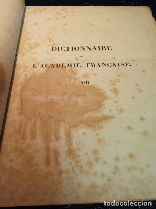 Diccionarios antiguos: 1-Dictionnaire De L´académie Française 2-Complément du Dictionnaire De L´académie Française - Foto 5 - 288511048