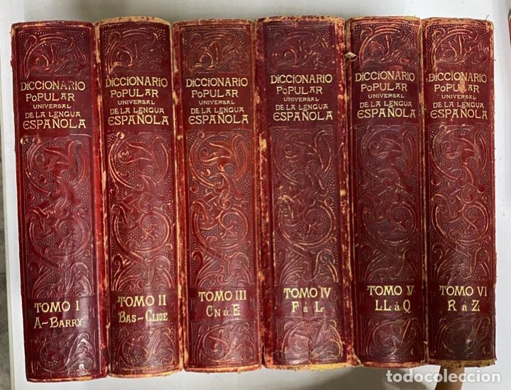 DICCIONARIO POPULAR UNIVERSAL DE LA LENGUA ESPAÑOLA. 6 TOMOS. LUIS P. DE RAMÓN. BARCELONA, 1896. (Libros Antiguos, Raros y Curiosos - Diccionarios)