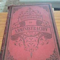 Diccionarios antiguos: DICCIONARIO DE LA ADMIN8STRACION ESPAÑOLA.MARCELO MARTINEZ ALCUBILLA.T VIII.1894.1080 PAGINAS.. Lote 289386868