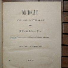 Livres anciens: DICCIONARIO GALLEGO-CASTELLANO. MARCIAL VALLADARES NÚÑEZ. IMPRENTA DEL SEMINARIO CONCILIAR. 1884. Lote 291558933