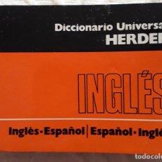 Diccionarios antiguos: RARO Y DESCATALOGADO DICCIONARIO UNIVERSAL- HERDER. Lote 293897973