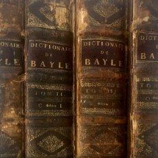 Diccionarios antiguos: 1730, DICTIONNAIRE HISTORIQUE ET CRITIQUE. BAYLE. Lote 296897398