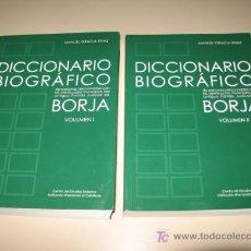 Diccionarios: DICCIONARIO BIOGRÁFICO DE PERSONAS RELACIONADAS CON EL ANTIGUO PARTIDO JUDICIAL DE BORJA 2005. . Lote 27145384