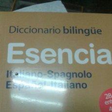 Diccionarios: DICCIONARIO BILINGŰE ESPAÑOL / ITALIANO. Lote 63601219