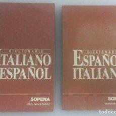 Diccionarios: DICCIONARIO SOPENA: ESPAÑOL-ITALIANO, ITALIANO-ESPAÑOL AÑO 1991, 445 PÁGINAS - 2 LIBRETOS. Lote 82886228